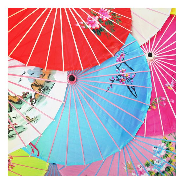 Alu-Dibond Bild - The Chinese Parasols