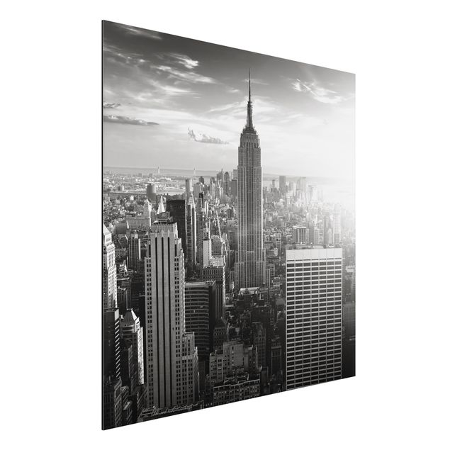 Alu-Dibond Bild - Manhattan Skyline Panorama