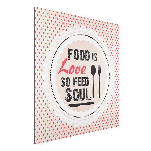Alu-Dibond Bild - Food Is Love