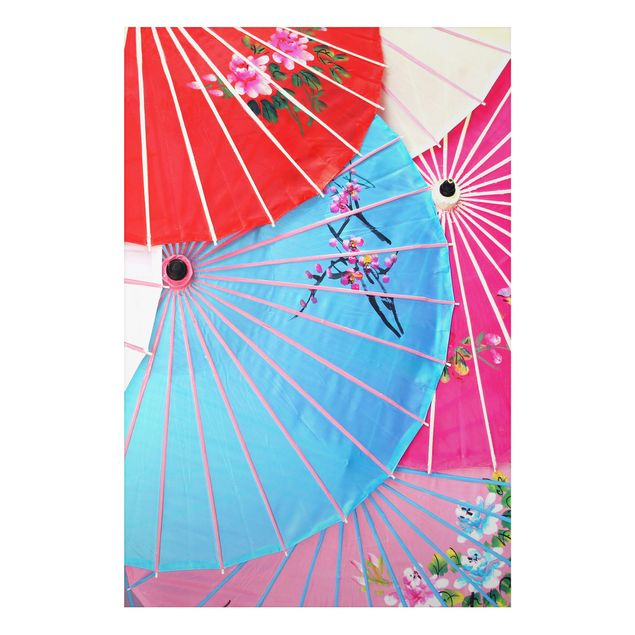 Alu-Dibond Bild - The Chinese Parasols
