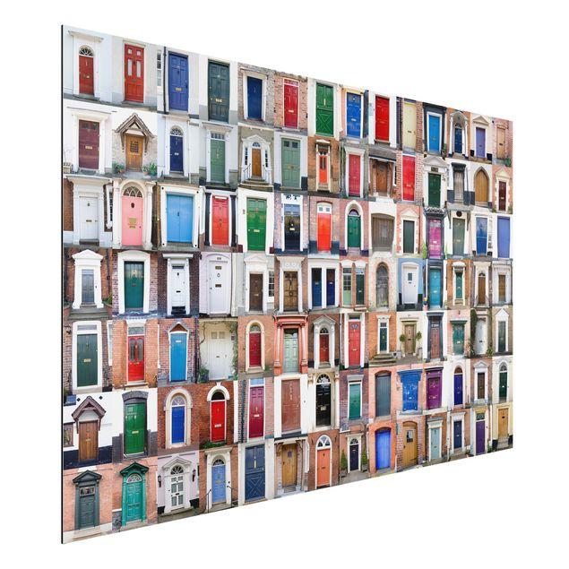 Alu-Dibond Bild - 100 Türen