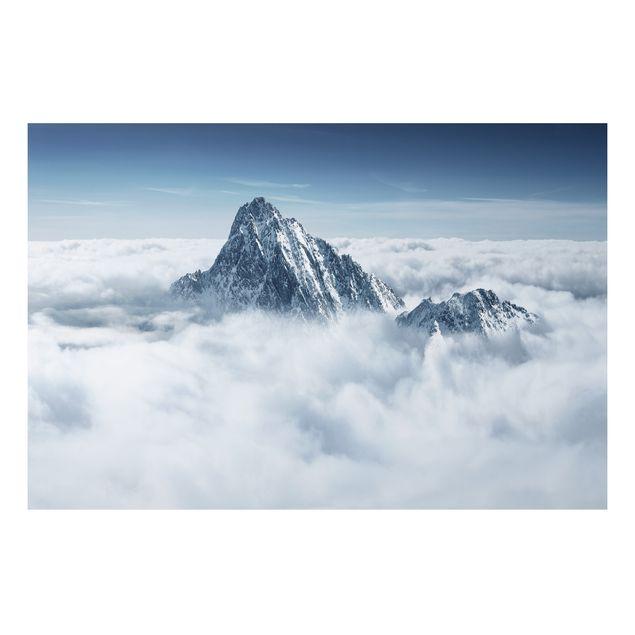 Alu-Dibond Bild - Die Alpen über den Wolken