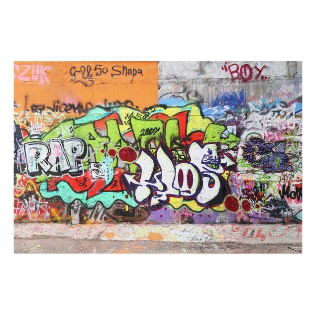 Alu-Dibond Bild - Graffiti Sticker Set