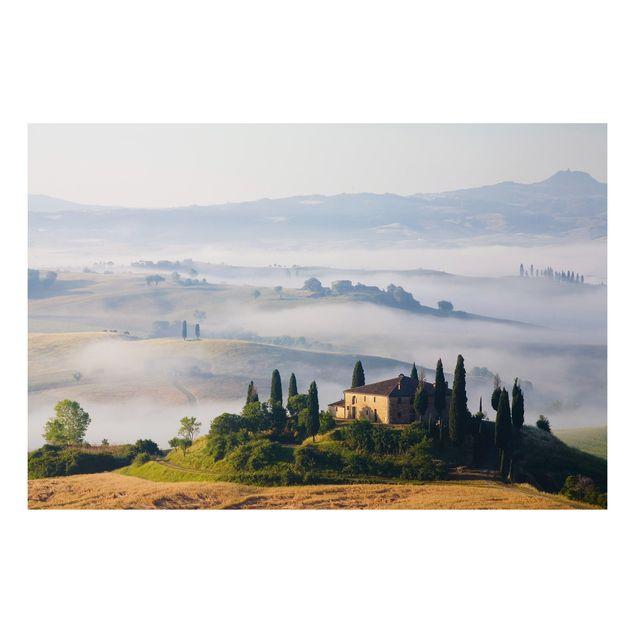 Alu-Dibond Bild - Landgut in der Toskana