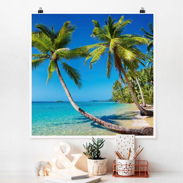 Poster - Beach of Thailand - Quadrat 1:1