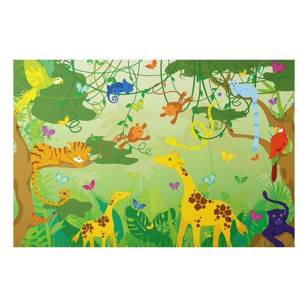 Alu-Dibond Bild - Dschungelspiel