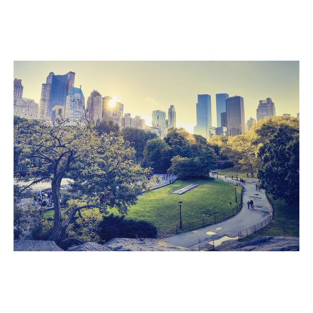 Alu-Dibond Bild - Peaceful Central Park
