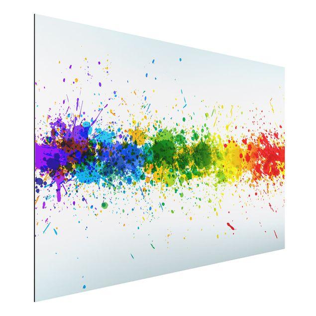 Alu-Dibond Bild - Rainbow Splatter