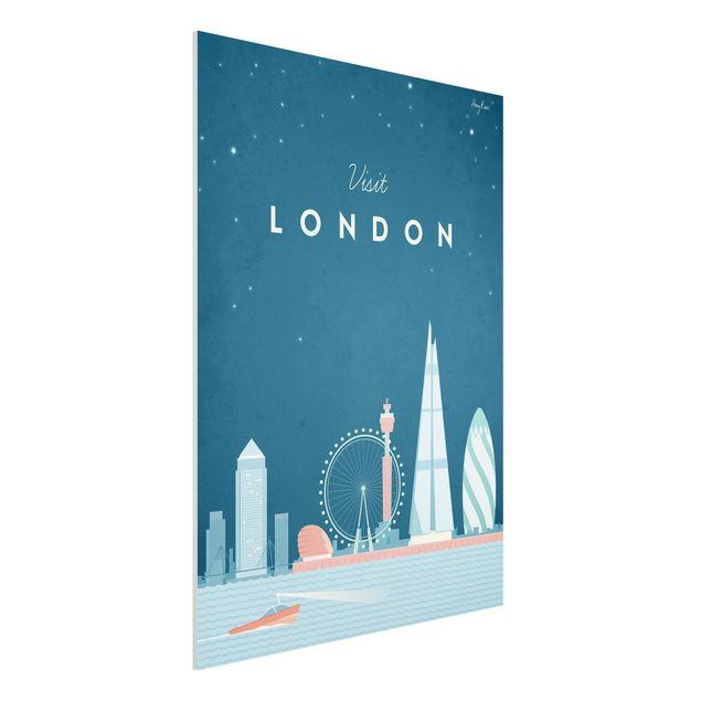 Forex Fine Art Print - Reiseposter - London - Hochformat 4:3