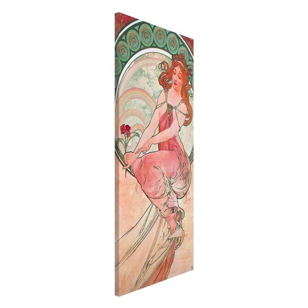 Magnettafel - Alfons Mucha - Vier Künste - Die Malerei - Memoboard Panorama Hochformat 2:1