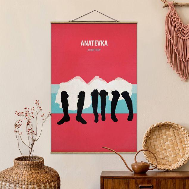 Stoffbild mit Posterleisten - Filmposter Anatevka II - Hochformat 3:2