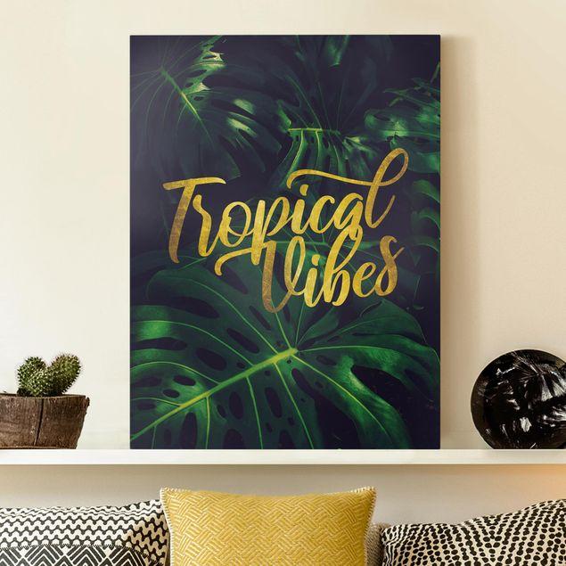 Leinwandbild - Dschungel - Tropical Vibes - Hochformat 4:3
