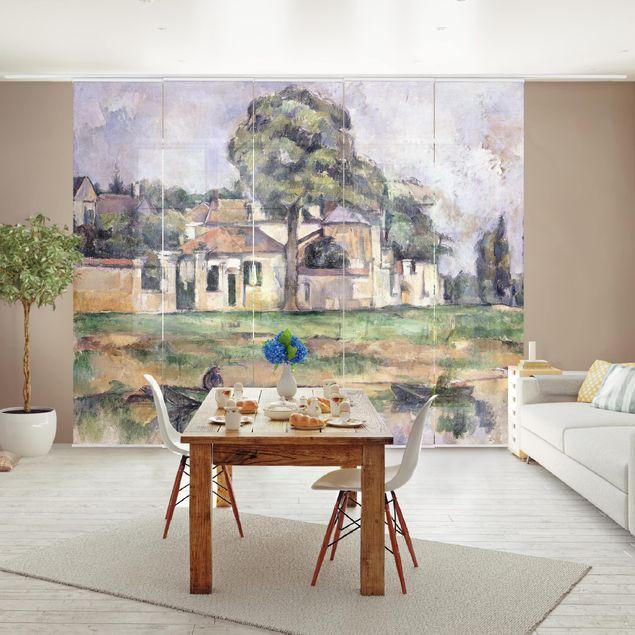 Schiebegardinen Set - Paul Cézanne - Am Ufer der Marne - Flächenvorhänge