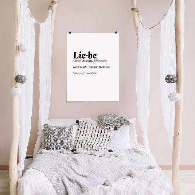 Poster - Die Definition von Liebe - Hochformat 3:4