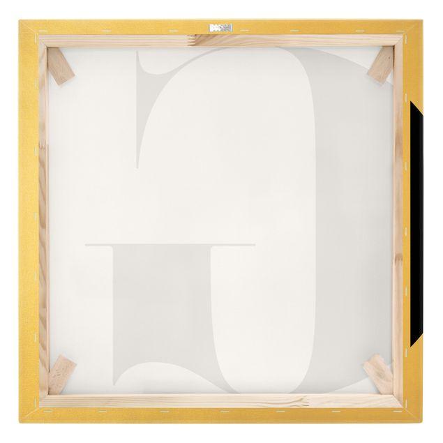 Leinwandbild Gold - Antiqua Letter G - Quadrat 1:1