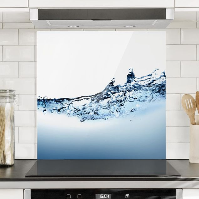 Glas Spritzschutz - Fizzy Water - Quadrat - 1:1