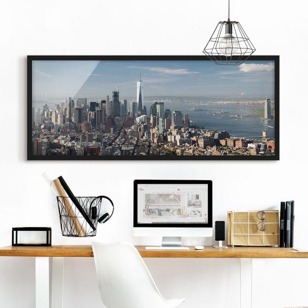Bild mit Rahmen - Blick vom Empire State Building - Panorama Querformat