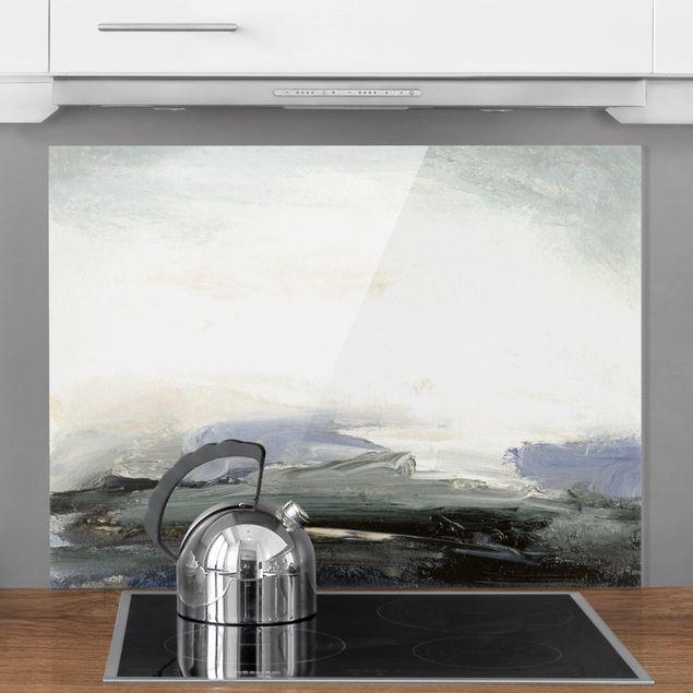 Glas Spritzschutz - Horizont bei Tagesanbruch - Querformat - 4:3