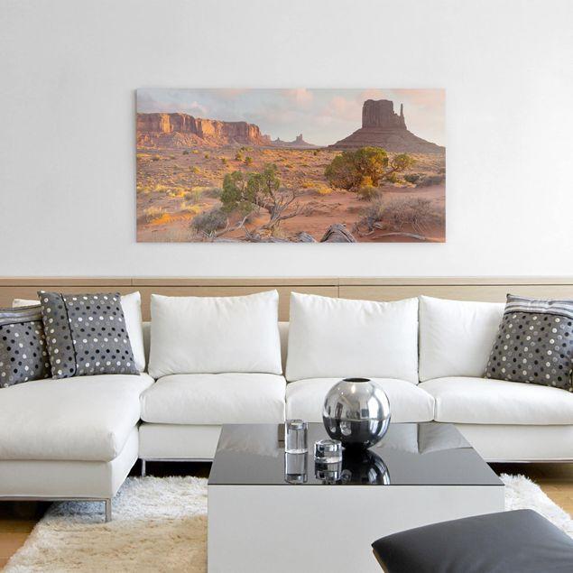 Leinwandbild - Monument Valley Navajo Tribal Park Arizona - Querformat 1:2