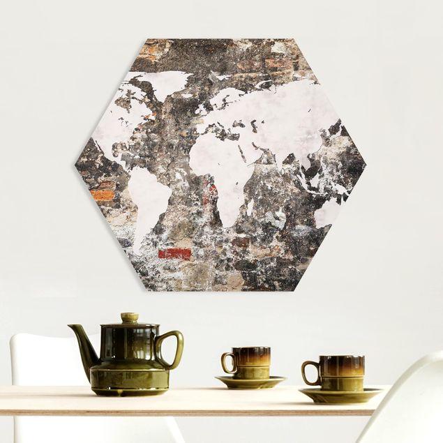 Hexagon Bild Forex - Alte Mauer Weltkarte