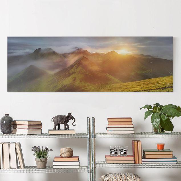 Leinwandbild - Storkonufell im Sonnenaufgang - Panorama 1:3