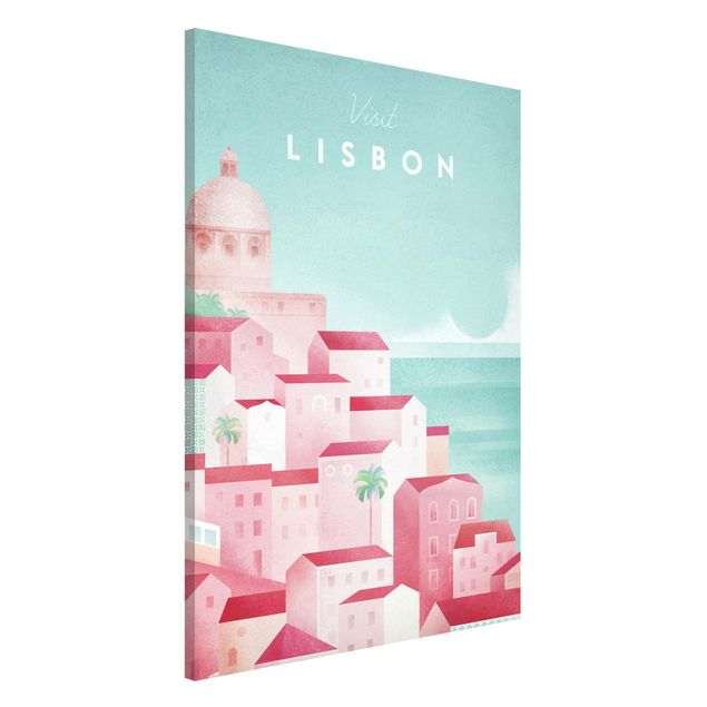 Magnettafel - Reiseposter - Lissabon - Memoboard Hochformat 3:2