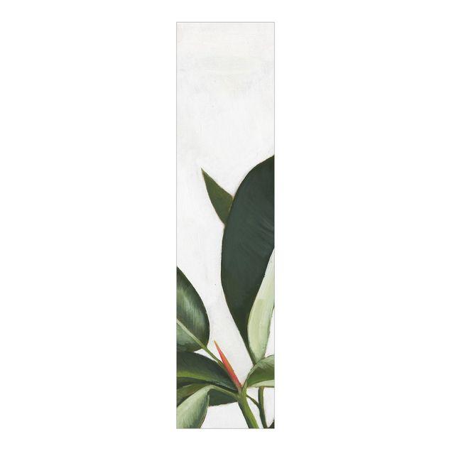 Schiebegardinen Set - Lieblingspflanzen - Gummibaum - Flächenvorhang