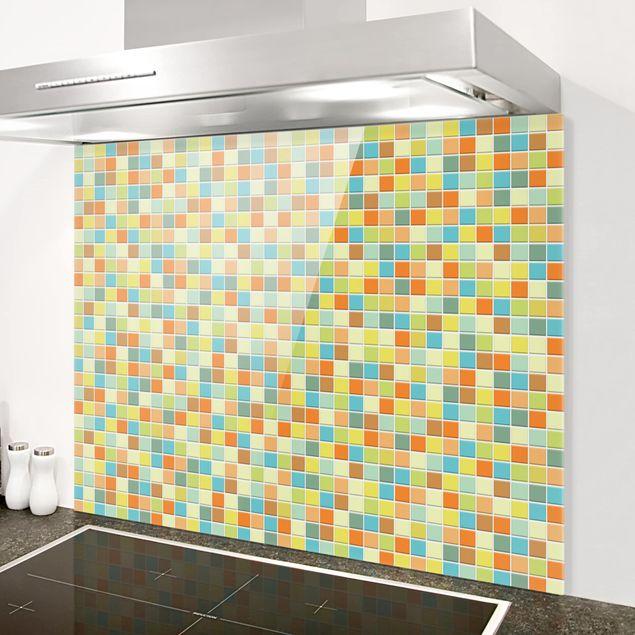 Glas Spritzschutz - Mosaikfliesen Sommerset - Querformat - 4:3