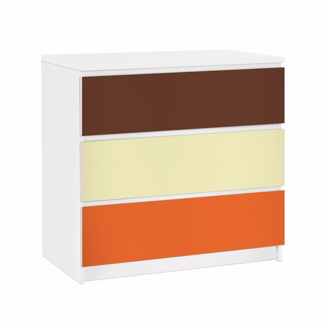 Möbelfolie für IKEA Malm Kommode - Klebefolie Set Herbst