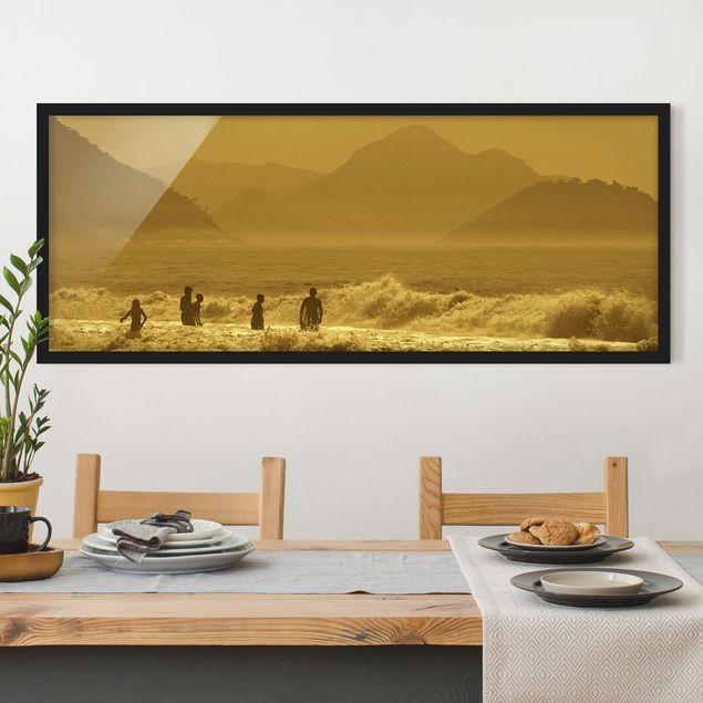 Bild mit Rahmen - Goldküste - Panorama Querformat