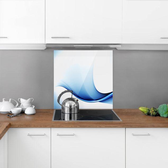 Glas Spritzschutz - Blaue Wandlung - Quadrat - 1:1