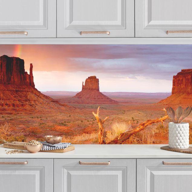 Küchenrückwand - Monument Valley bei Sonnenuntergang