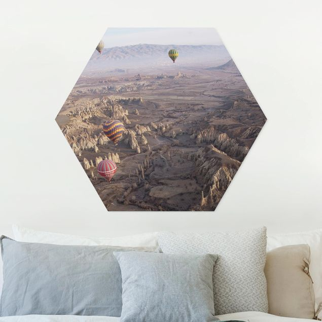 Hexagon Bild Forex - Heißluftballons über Anatolien