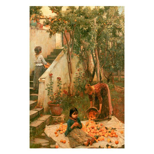 Magnettafel - John William Waterhouse - Die Orangenpflücker - Memoboard Hochformat 3:2