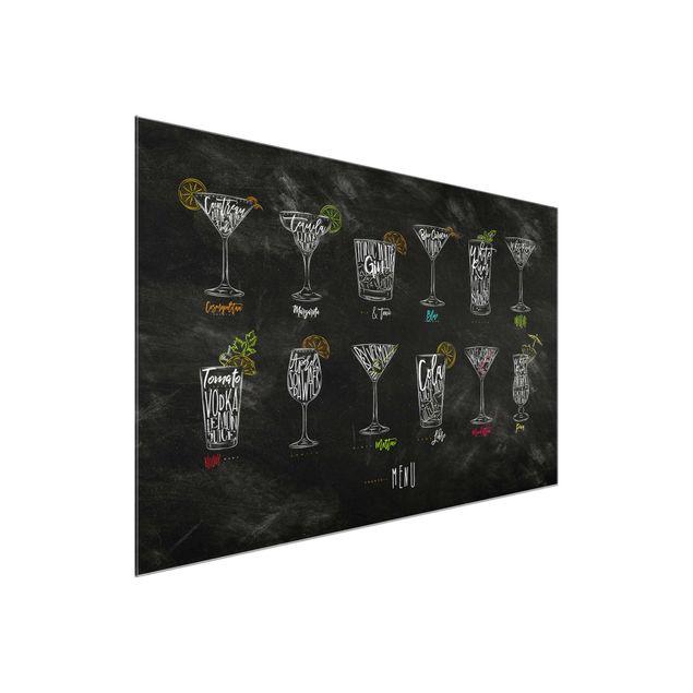 Glasbild - Cocktail Menu - Quer 3:2