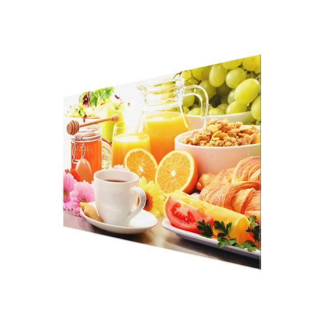 Glasbild - Sommerlicher Frühstückstisch - Quer 3:2