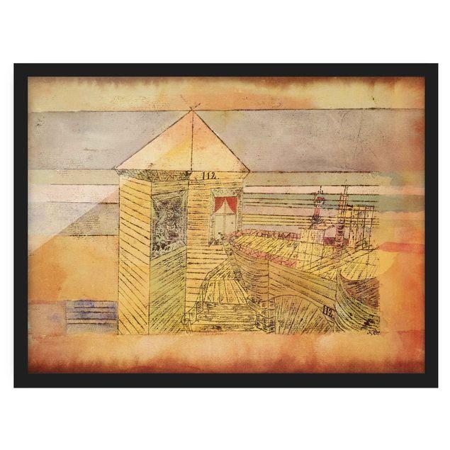 Bild mit Rahmen - Paul Klee - Wunderbare Landung - Querformat 3:4