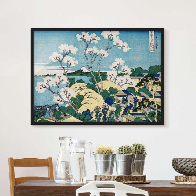 Bild mit Rahmen - Katsushika Hokusai - Der Fuji von Gotenyama - Querformat 3:4