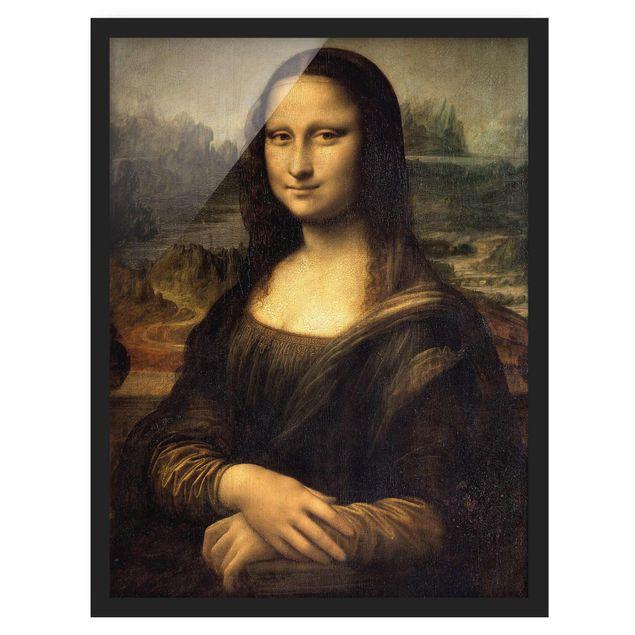Bild mit Rahmen - Leonardo da Vinci - Mona Lisa - Hochformat 3:4