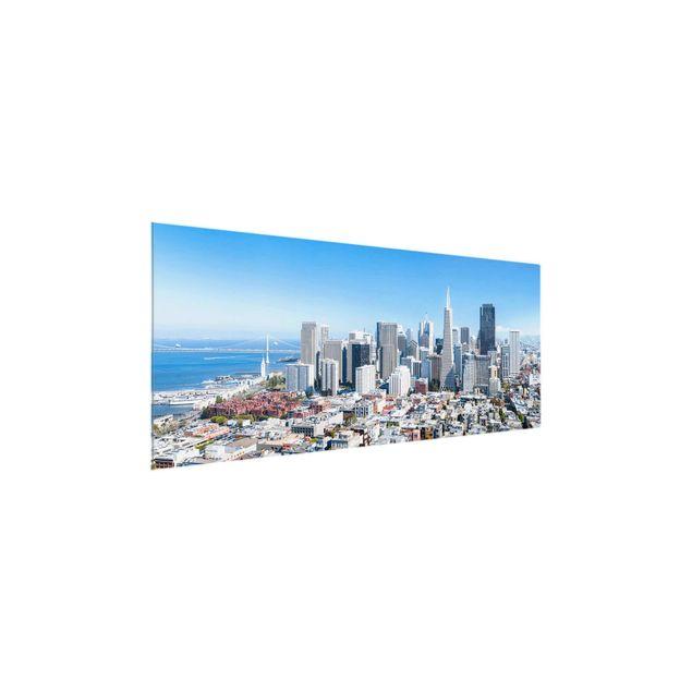 Glasbild - San Francisco Skyline - Panorama