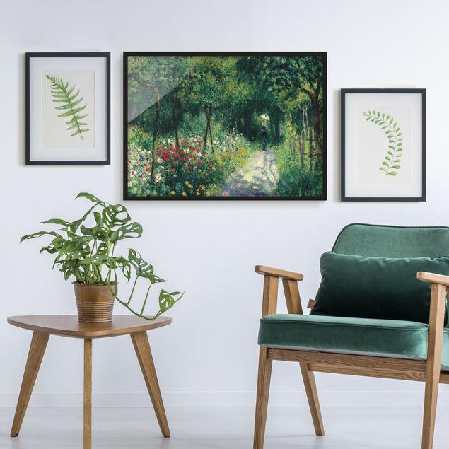 Bild mit Rahmen - Auguste Renoir - Frauen im Garten - Querformat 3:4