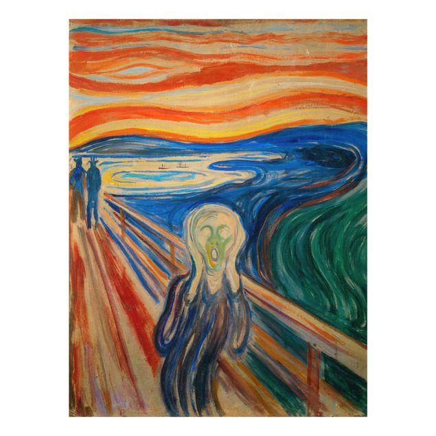 Glasbild - Edvard Munch - Der Schrei - Hochformat 4:3