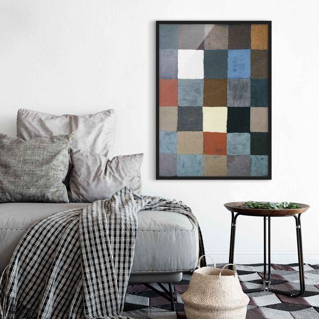 Bild mit Rahmen - Paul Klee - Farbtafel - Hochformat 3:4