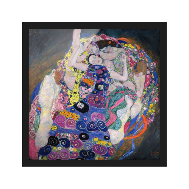 Bild mit Rahmen - Gustav Klimt - Die Jungfrau - Quadrat 1:1