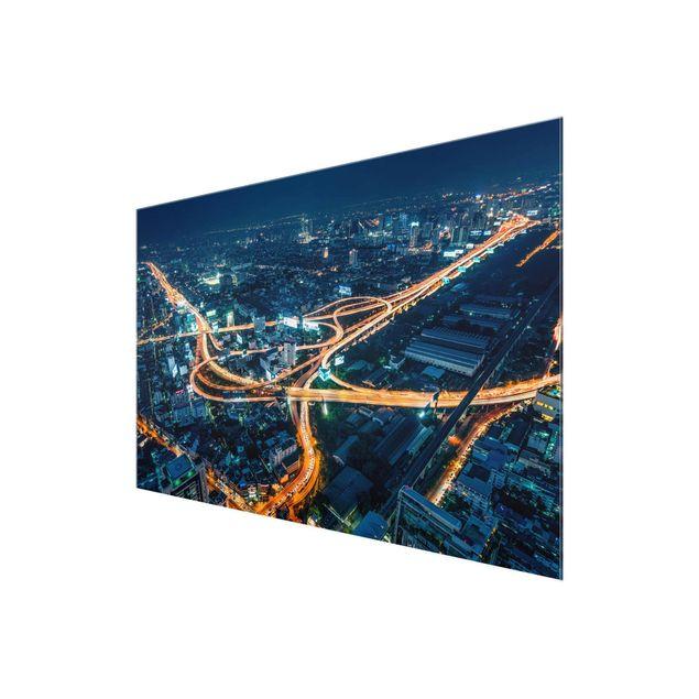 Glasbild - Eine Nacht in Bangkok - Querformat 3:2