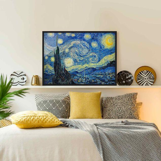 Bild mit Rahmen - Vincent van Gogh - Sternennacht - Querformat 3:4