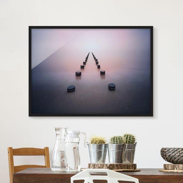 Bild mit Rahmen - Zen am Strand - Querformat 3:4