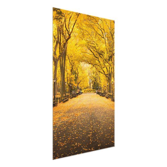 Glasbild - Herbst im Central Park - Hochformat 2:3