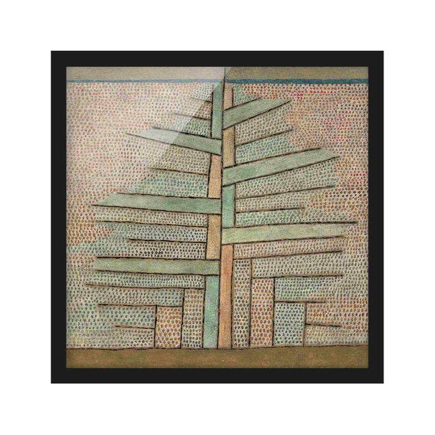 Bild mit Rahmen - Paul Klee - Kiefer - Quadrat 1:1