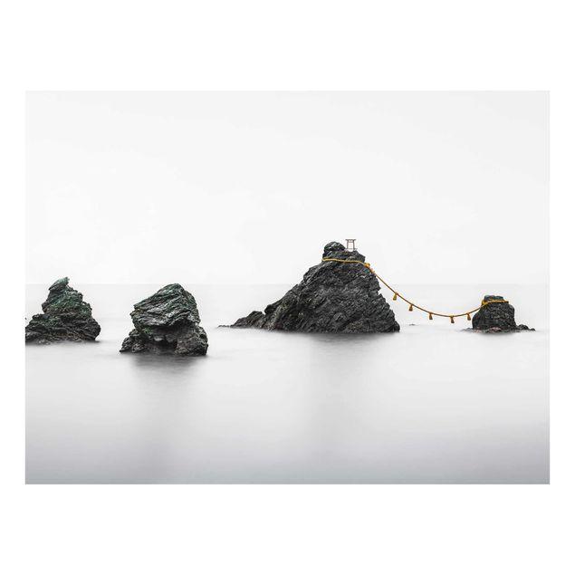 Glasbild - Meoto Iwa - die verheirateten Felsen - Querformat 4:3